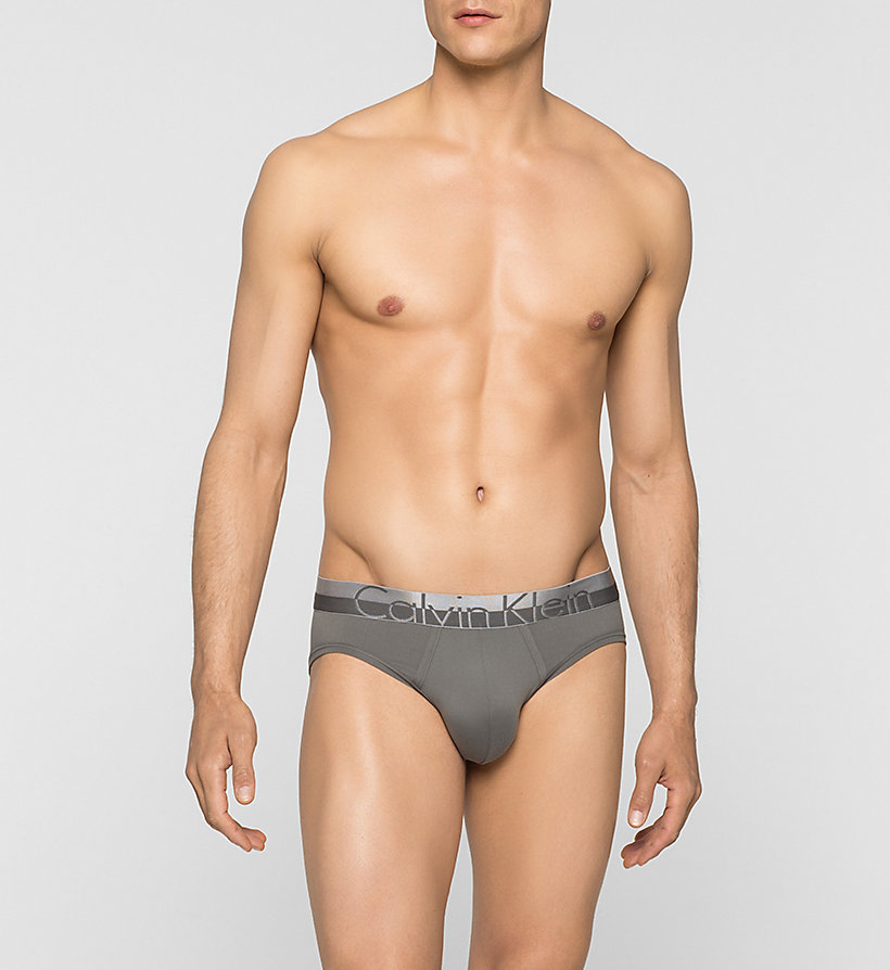 CALVINKLEIN Slip taille basse - Magnetic - GREY SKY - CALVIN KLEIN HOMMES - image principale