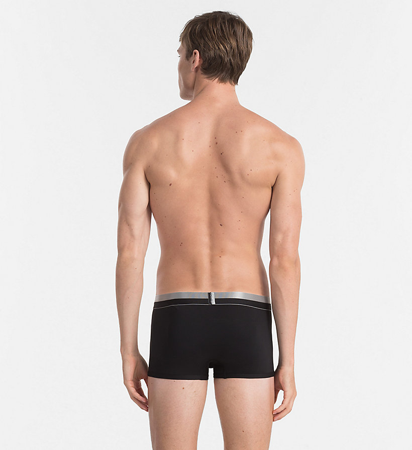 CALVINKLEIN Low Rise Trunks - Magnetic - BLACK - CALVIN KLEIN UNDERWEAR - detail image 1