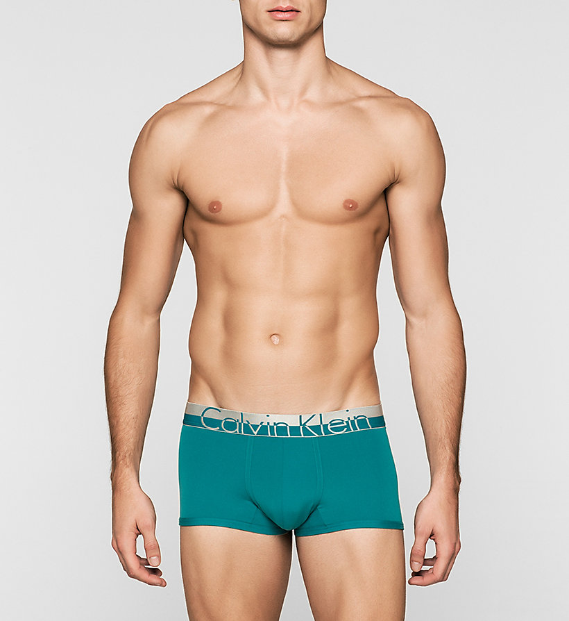 CALVINKLEIN Low Rise Trunks - Magnetic - EMERALD SEA - CALVIN KLEIN UNDERWEAR - main image