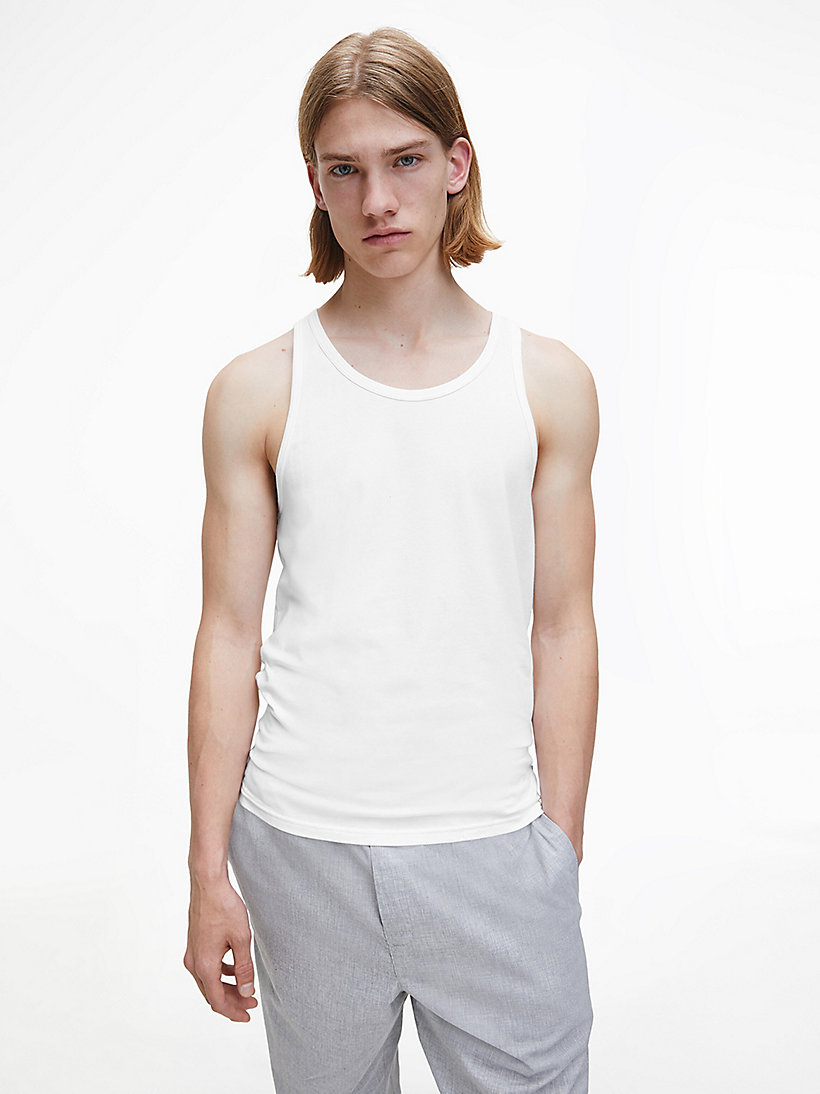 CALVINKLEIN 2 Pack Tank Tops - Modern Cotton - WHITE - CALVIN KLEIN NIGHTWEAR & LOUNGEWEAR - main image