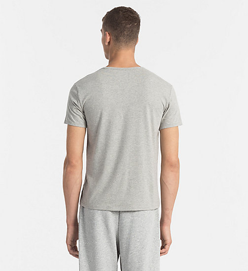 CALVINKLEIN T-shirt - CK Sleep - GREY HEATHER - CALVIN KLEIN VÊTEMENTS DE NUIT & D'INTERIEUR - image détaillée 1