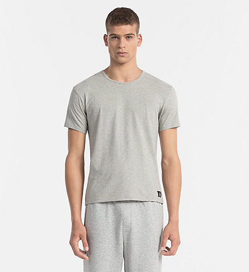 CALVINKLEIN T-shirt - CK Sleep - GREY HEATHER - CALVIN KLEIN NIGHTWEAR & LOUNGEWEAR - main image