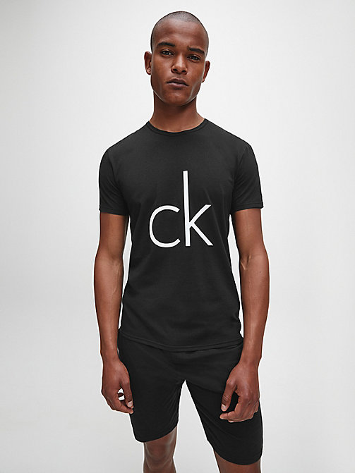 T-shirt - CK Sleep - BLACK W/LOGO - CALVIN KLEIN HEREN - main image
