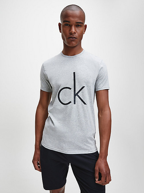 T-shirt - CK Sleep - GREY HEATHER W/LOGO - CALVIN KLEIN HEREN - main image