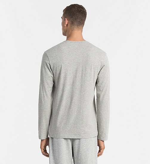 CALVINKLEIN T-shirt - CK Sleep - GREY HEATHER - CALVIN KLEIN PYJAMA TOPS - detail image 1