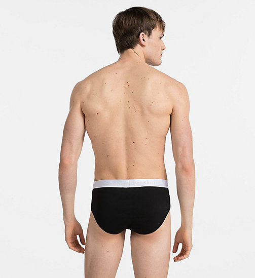 CALVINKLEIN Hip Briefs - Liquid Stretch - BLACK - CALVIN KLEIN BRIEFS - detail image 1