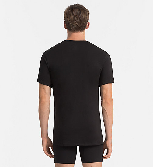 CALVINKLEIN T-Shirt - Liquid Stretch - BLACK - CALVIN KLEIN  - main image 1