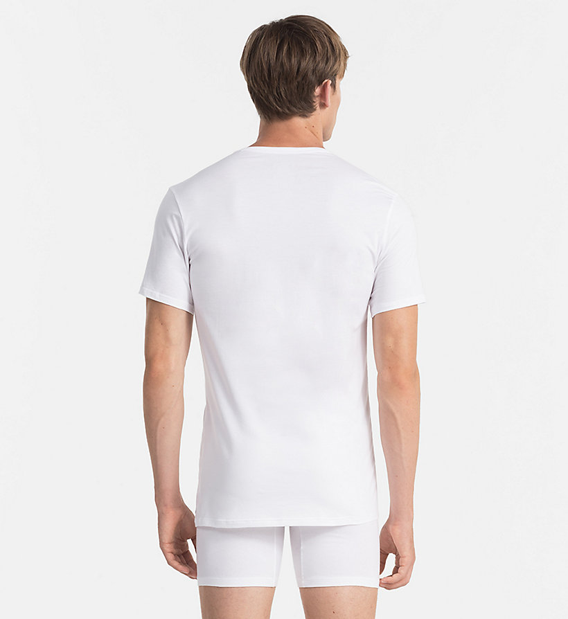 CALVINKLEIN T-shirt - Liquid Stretch - WHITE - CALVIN KLEIN T-SHIRTS - detail image 1