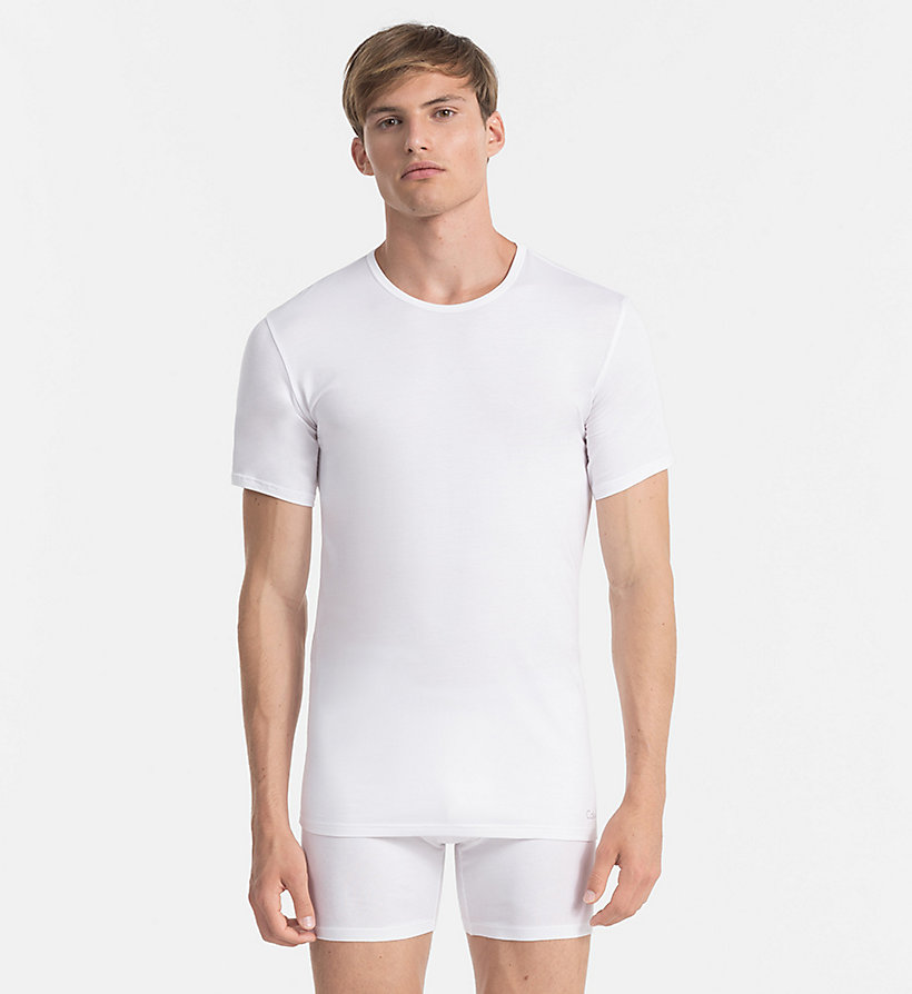CALVINKLEIN T-shirt - Liquid Stretch - WHITE - CALVIN KLEIN T-SHIRTS - main image