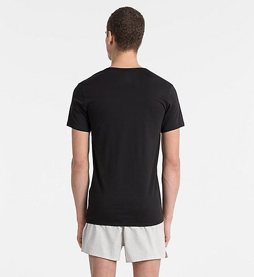T-shirt - Liquid Stretch - BLACK - CALVIN KLEIN HEREN - detail image 1