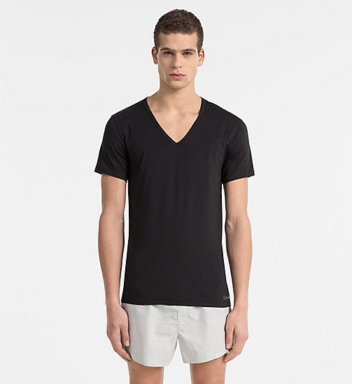 T-shirt - Liquid Stretch - BLACK - CALVIN KLEIN HEREN - main image
