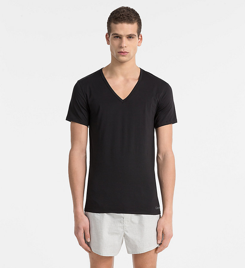 CALVINKLEIN T-Shirt - Liquid Stretch - BLACK - CALVIN KLEIN T-SHIRTS - main image