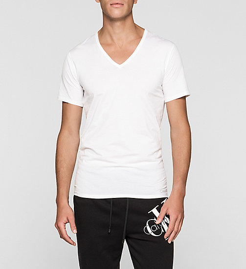 T-shirt - Liquid Stretch - WHITE - CALVIN KLEIN HEREN - main image