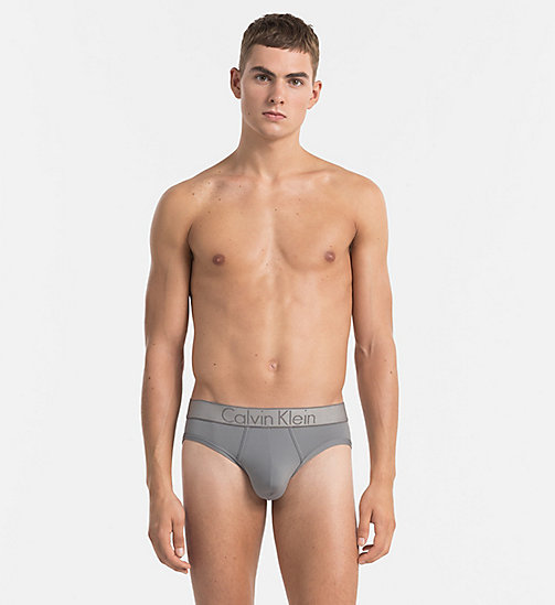 CALVINKLEIN Hip Briefs - Customized Stretch - GREY SKY - CALVIN KLEIN CUSTOMIZED STRETCH - main image