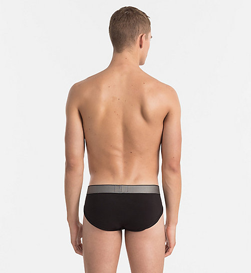 CALVINKLEIN Hip Briefs - Customized Stretch - BLACK - CALVIN KLEIN BRIEFS - detail image 1