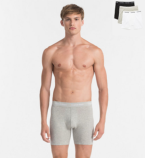 CALVINKLEIN Pack de 3 bóxers de tela - Cotton Stretch - BLACK / WHITE / GREY HEATHER - CALVIN KLEIN ROPA INTERIOR - imagen principal