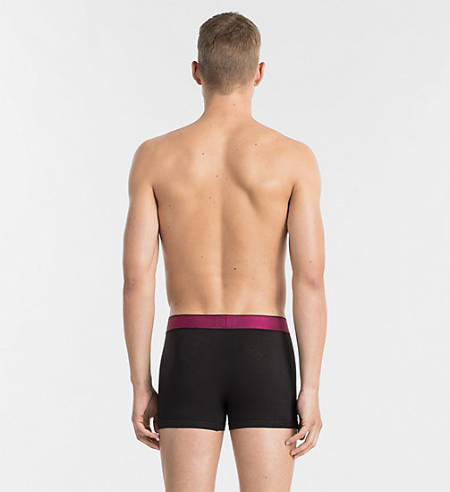 CALVINKLEIN Trunks - Customized Cotton - BLACK W/ ROSEATE WB - CALVIN KLEIN CUSTOMIZED STRETCH - detail image 1