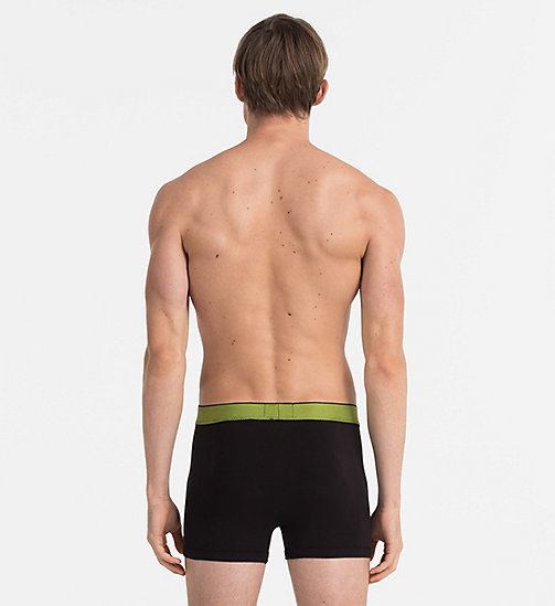 CALVINKLEIN Boxer aderenti - Customized Cotton - BLACK W/ REBEL WB - CALVIN KLEIN CUSTOMIZED STRETCH - dettaglio immagine 1