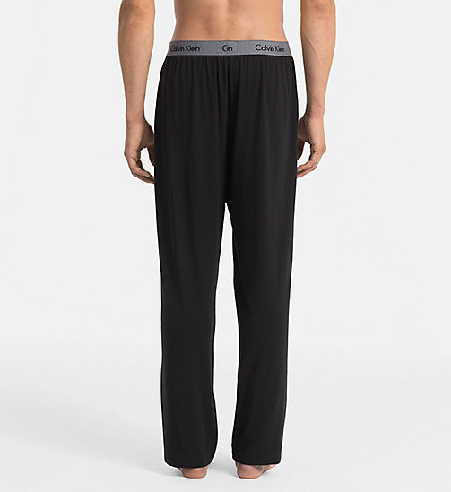 CALVINKLEIN PJ Pants - Cotton Modal - BLACK - CALVIN KLEIN PYJAMA BOTTOMS - detail image 1