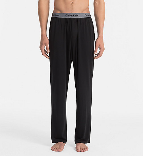 CALVINKLEIN PJ Pants - Cotton Modal - BLACK - CALVIN KLEIN PYJAMA BOTTOMS - main image