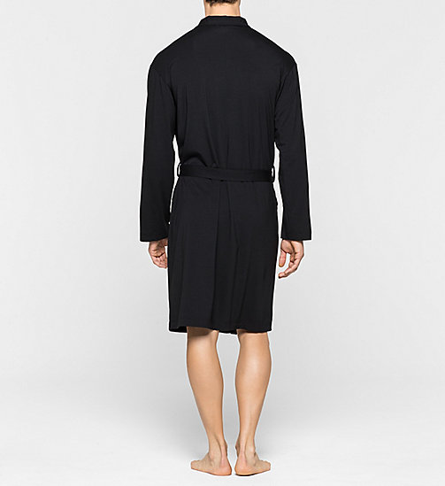 CALVINKLEIN Robe - Cotton Modal - BLACK - CALVIN KLEIN BATHROBES - detail image 1
