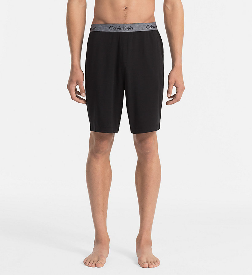 CALVINKLEIN Shorts - Cotton Modal - BLACK - CALVIN KLEIN SHORTS - main image