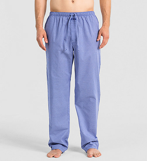 CALVINKLEIN Pants - DIAMOND LATTICE PRINT DARK MI - CALVIN KLEIN NIGHTWEAR & LOUNGEWEAR - main image
