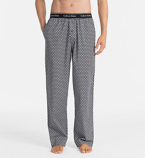CALVINKLEIN PJ Pants - TRIANGLE WEDGE PRINT BLACK - CALVIN KLEIN PYJAMA BOTTOMS - main image