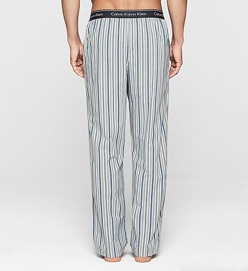 CALVINKLEIN PJ Pants - DYNAMIC STRIPE CARBON BLUE - CALVIN KLEIN MEN - detail image 1