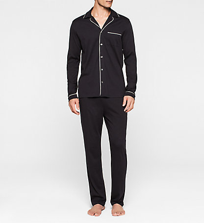 CALVIN KLEIN Pyjama-Set - Black Cotton 000NM1333E001