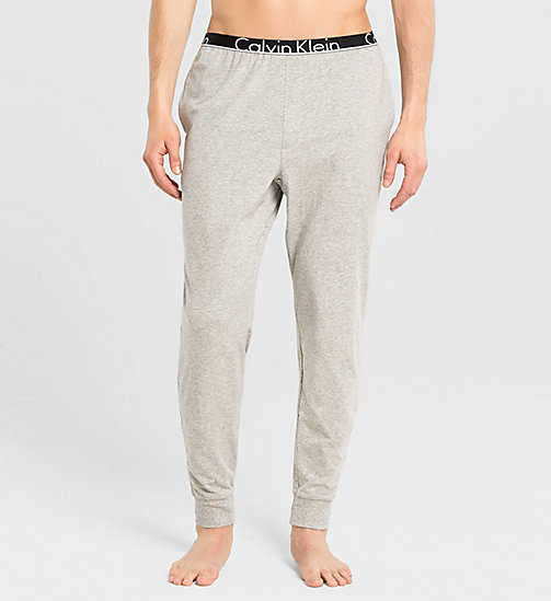 CALVINKLEIN Sweatpants - Calvin Klein ID - GREY HEATHER - CALVIN KLEIN PYJAMA BOTTOMS - main image
