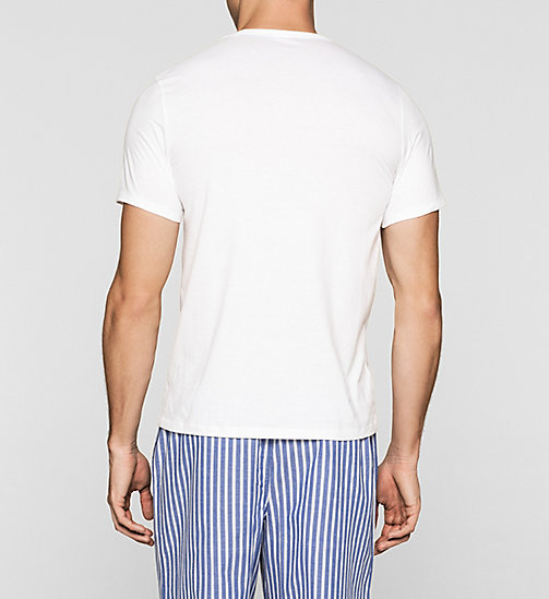 CALVINKLEIN T-shirt - Calvin Klein ID - WHITE W/ GREY CUT LOGO - CALVIN KLEIN Up to 40% - detail image 1