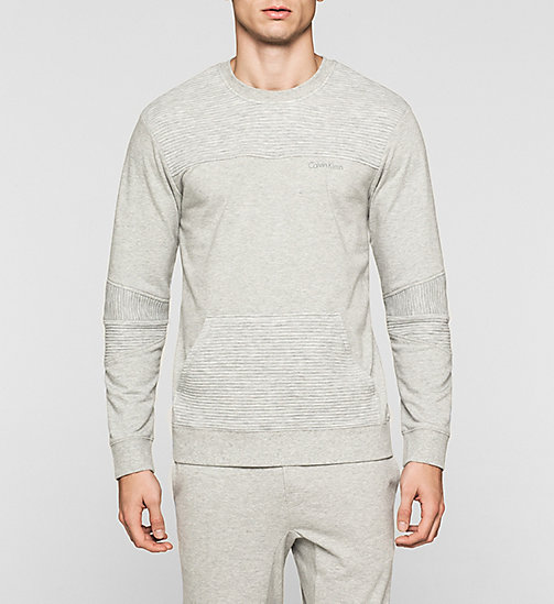 CALVINKLEIN Sweat-shirt - Sculpt - GREY HEATHER - CALVIN KLEIN HAUTS DE PYJAMA - image principale