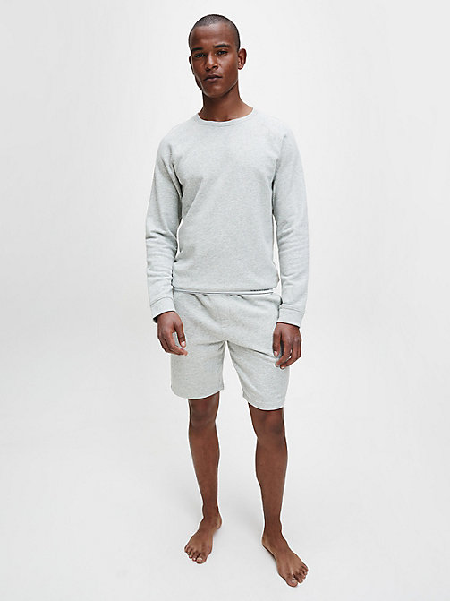 CALVINKLEIN Sweatshirt - Modern Cotton - GREY HEATHER - CALVIN KLEIN PYJAMA TOPS - detail image 1