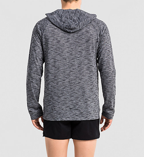 CALVINKLEIN Hoodie - Edge - CHARCOAL HEATHER - CALVIN KLEIN  - main image 1
