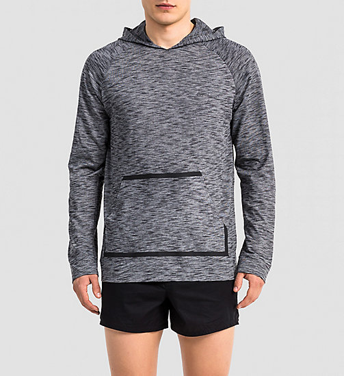 CALVINKLEIN Sweat-shirt à capuche - Edge - CHARCOAL HEATHER - CALVIN KLEIN  - image principale