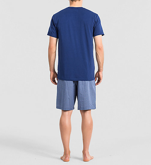 CALVINKLEIN Logo PJ Set - AIRFORCE TOP / STICKS PRINT A - CALVIN KLEIN MEN - detail image 1