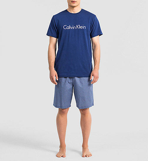 CALVINKLEIN Logo PJ Set - AIRFORCE TOP / STICKS PRINT A - CALVIN KLEIN PYJAMAS - main image