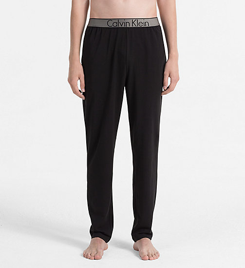 CALVINKLEIN PJ Pants - Customized Stretch - BLACK - CALVIN KLEIN PYJAMA BOTTOMS - main image