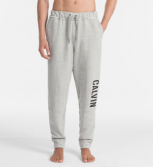 CALVINKLEIN Logo Sweatpants - GREY HEATHER - CALVIN KLEIN PYJAMA BOTTOMS - main image