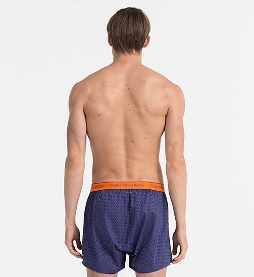 CALVINKLEIN Woven Boxers - STRIKE THROUGH CIRCLES PLACID - CALVIN KLEIN BOXERS - detail image 1