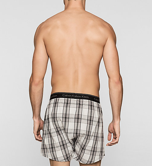 CALVINKLEIN Woven Boxers - ROSSA PLAID BLACK - CALVIN KLEIN Up to 50% - detail image 1