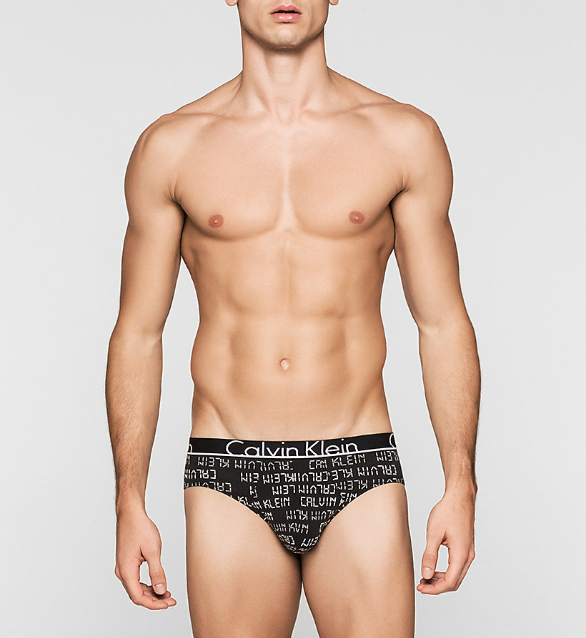 CALVINKLEIN Hip Briefs - Calvin Klein ID - DIGITAL LOGO BLACK - CALVIN KLEIN MEN - main image