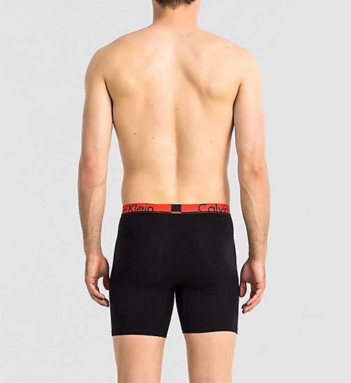 CALVINKLEIN 2er-Pack Shorts - Calvin Klein ID - 3D MOVING LOGO HENNA / BLACK - CALVIN KLEIN PACKS - main image 1