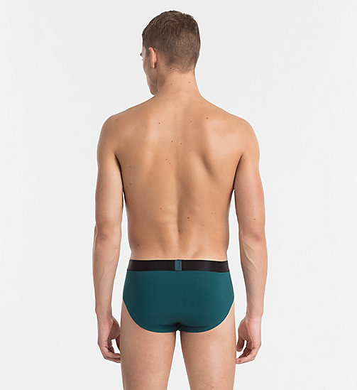 CALVINKLEIN Hip Briefs - Tech Fusion - DEEP TEAL - CALVIN KLEIN NEW ARRIVALS - detail image 1