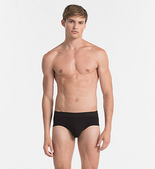 CALVINKLEIN Hip Briefs - Infinite - BLACK - CALVIN KLEIN BRIEFS - main image
