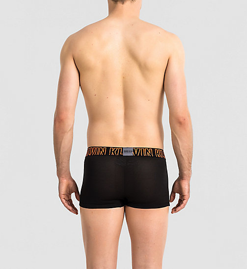 CALVINKLEIN Low Rise Trunks - Zone FX - BLACK W/ POWER ORANGE - CALVIN KLEIN TRUNKS - detail image 1