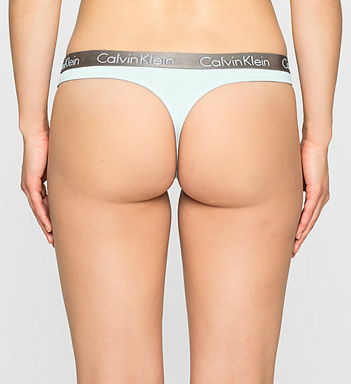 CALVINKLEIN Thong - Radiant Cotton - SALT LAKE - CALVIN KLEIN UNDERWEAR - detail image 1