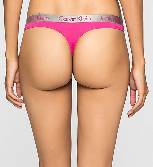 CALVINKLEIN Thong - Radiant Cotton - VIVA PINK - CALVIN KLEIN Up to 50% - detail image 1