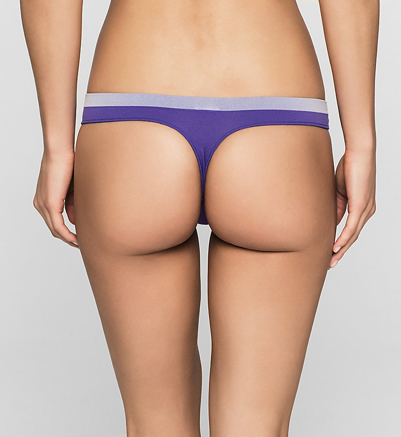 CALVINKLEIN Thong - Pure Seamless - STIMULATE (PURE ICE WB) - CALVIN KLEIN UNDERWEAR - detail image 1
